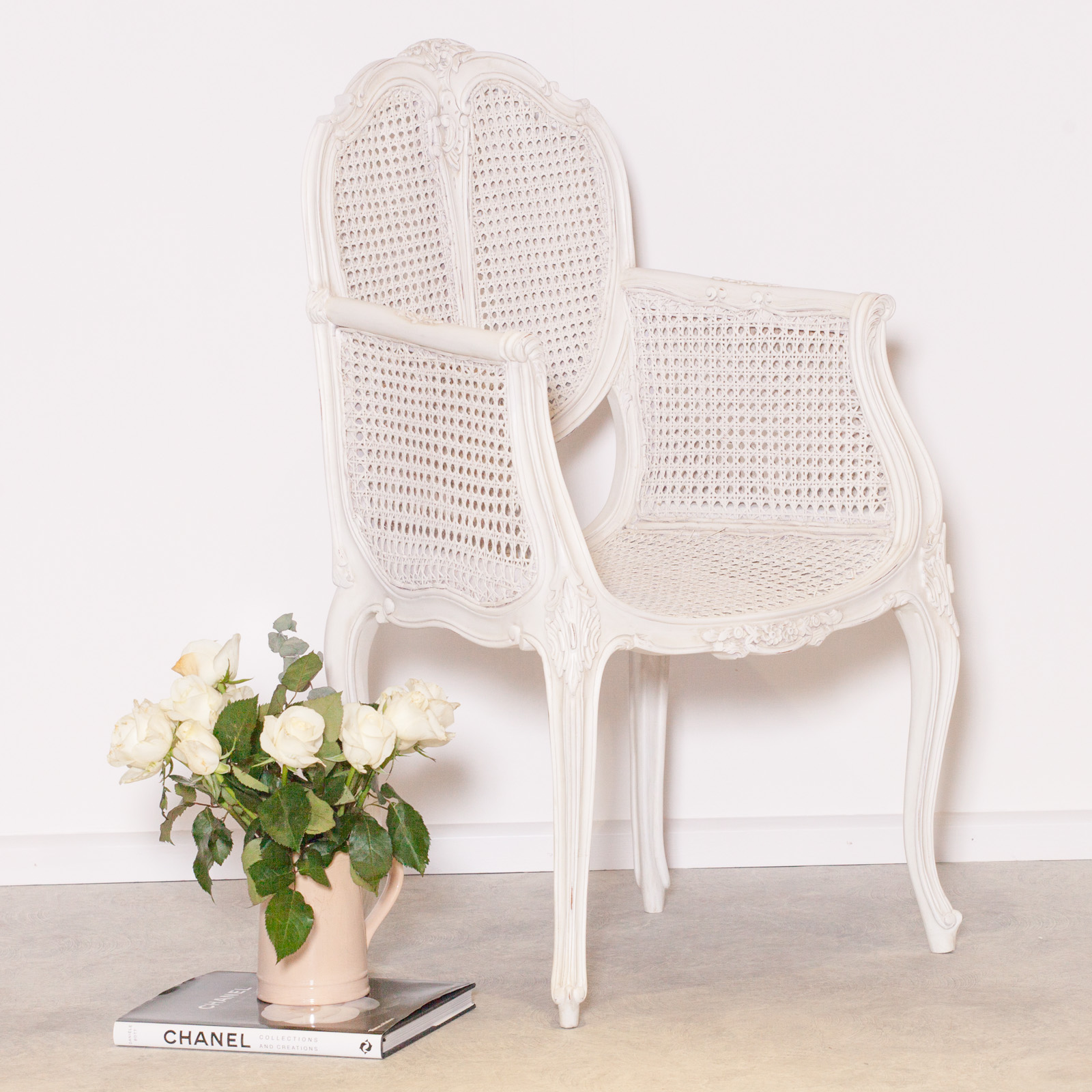 white wicker dining chairs uk teen bedroom french chateau rattan arm chair