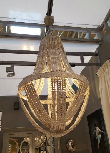 Wooden Large Boho Ceiling Light Furniture La Maison Chic