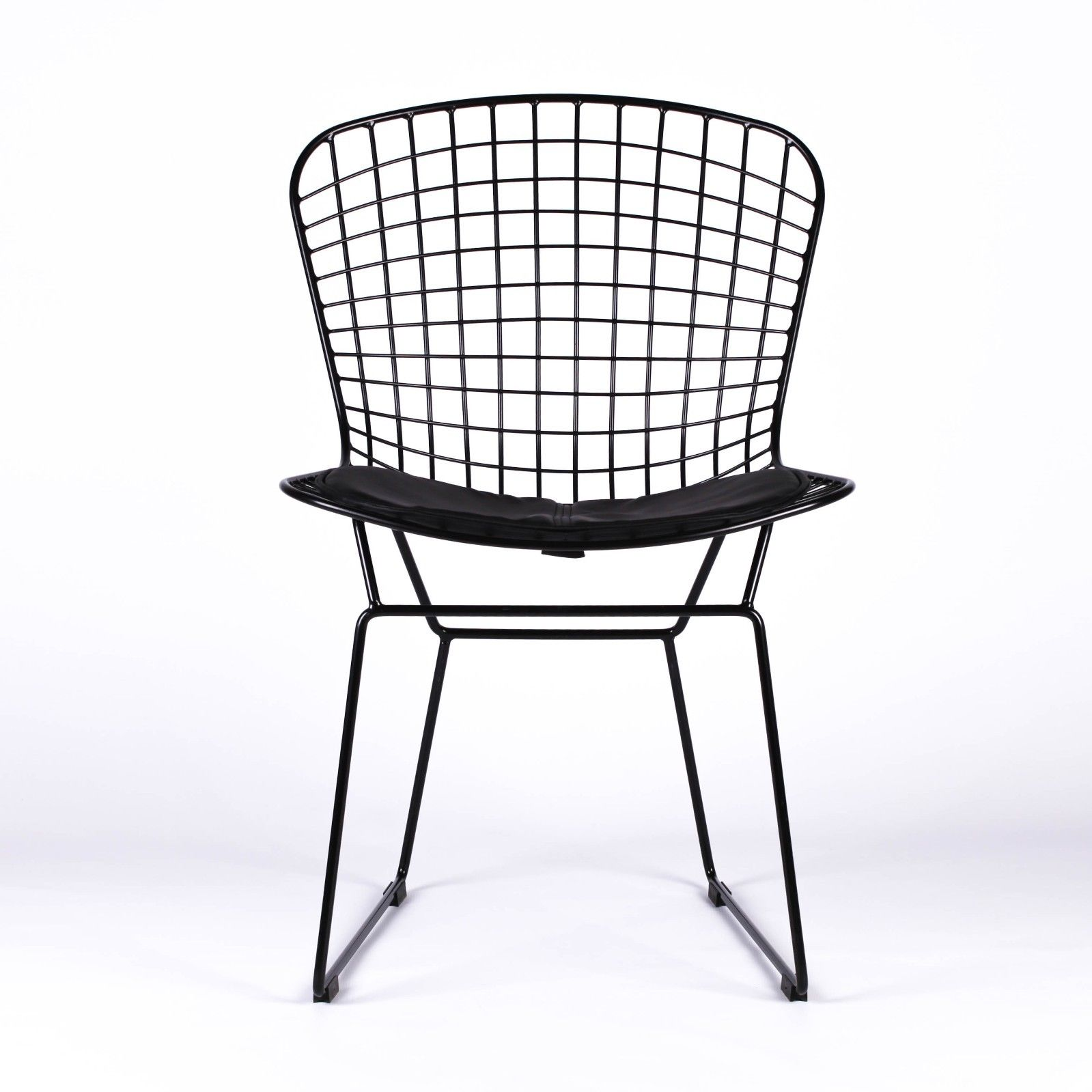 wire mesh dining chairs uk high wing back bertoia inspired black chair furniture