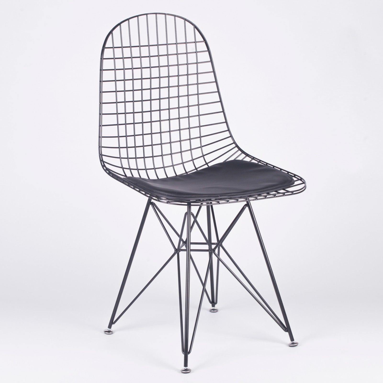 wire mesh dining chairs uk ikea oversized chair dkr inspired black eiffel style furniture