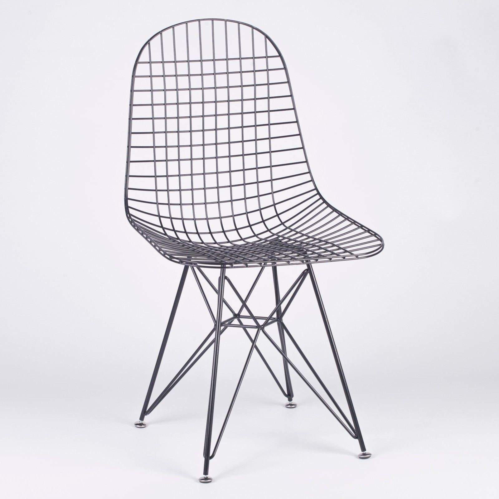 wire mesh dining chairs uk luxury table and bertoia dkr inspired black eiffel style