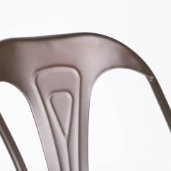Boondocks Steel Chair Effect Back Covers Amazon Industrial Tolix Inspired Metal Zinc Dining