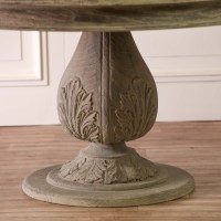 Acorn Pedestal Round Large Washed Dining Table Furniture ...