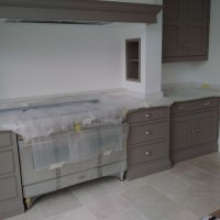 Hartford Kitchen being prepared for paint