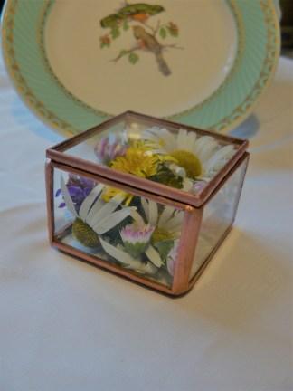 location boite en verre carrée vaisselle vintage décoration normandie