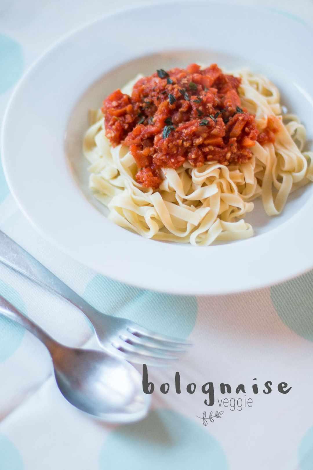 Spaghetti bolognaises végétariennes
