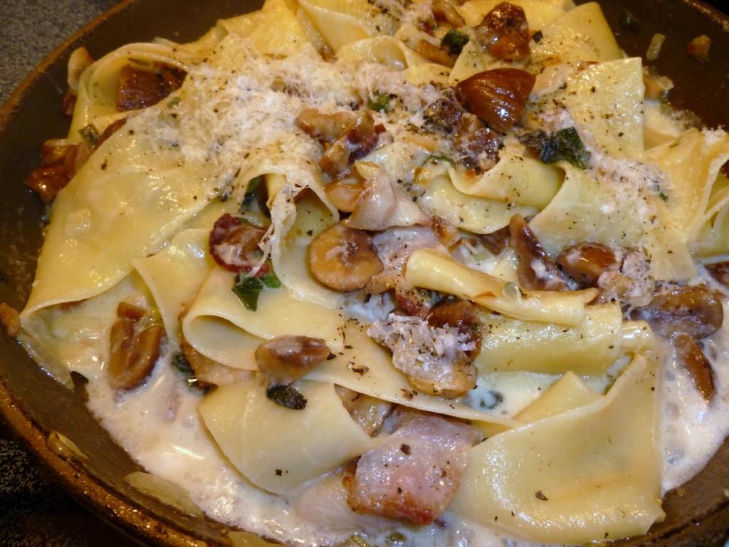 Ricetta del giorno pappardelle con castagne e speck la for Ricette castagne