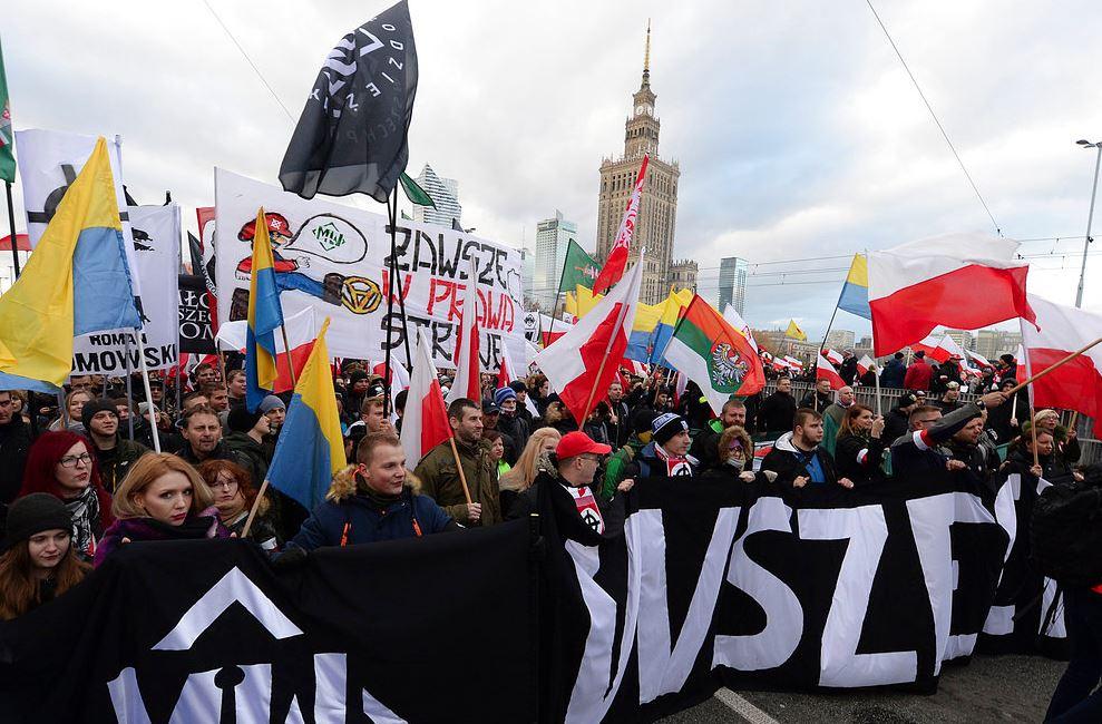 In Polonia 60mila persone hanno partecipato a una marcia nazionalista