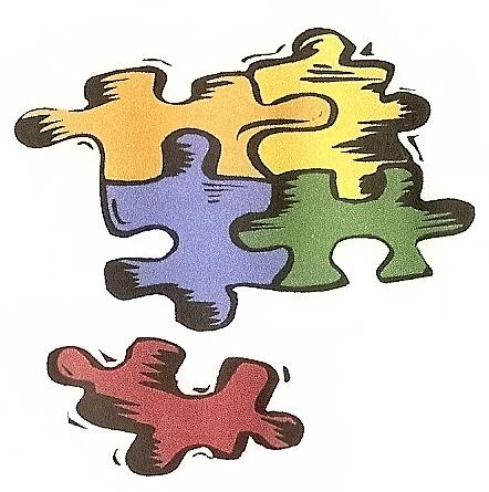 Logo de l'association puzzle - soirée parentalité