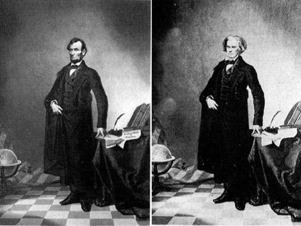 A. Lincoln (à gauche) et J. Calhoun (à droite)