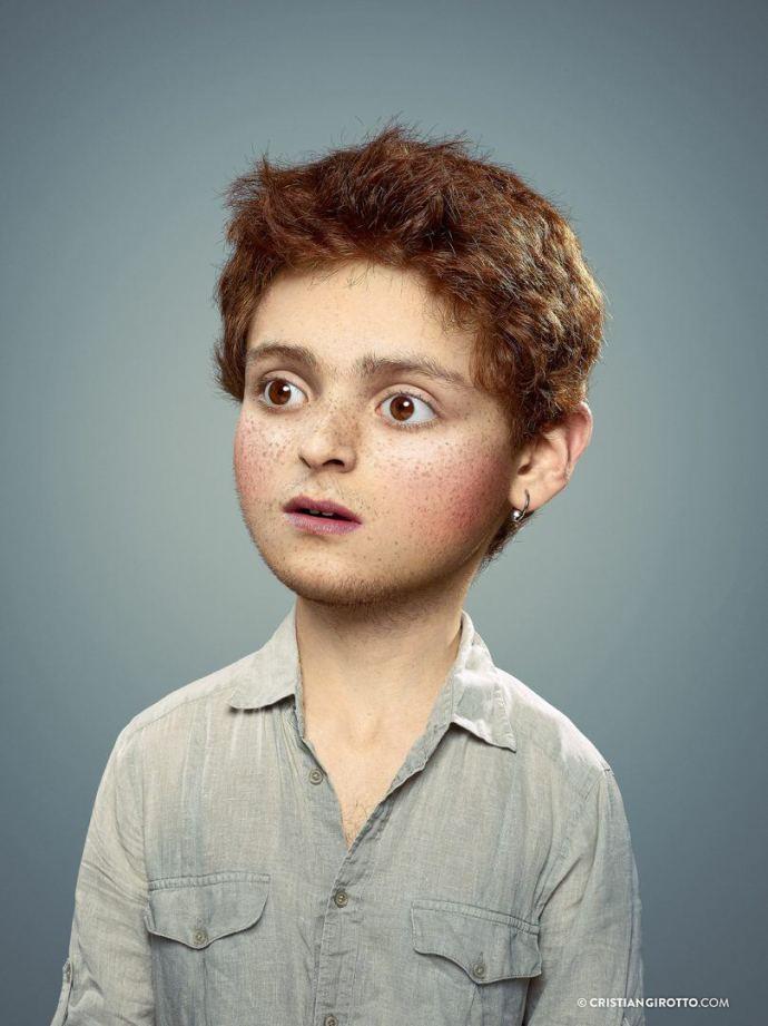 L'enfant extérieur par Cristian Girotto, sur le blog La retouche photo.
