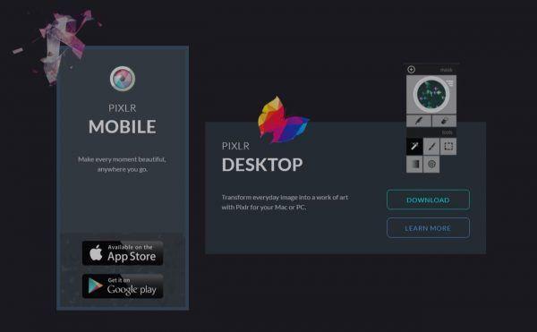 Pixlr mobile et Desktop, logiciel photo gratuit, sur le blog La Retouche photo.
