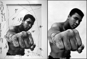 Portrait Ali par Thomas Hoepker