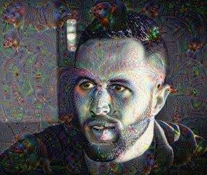 Deep dream, auto portrait version 3