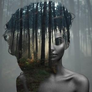 Beauty silence 2/10, série en double exposition par Alexandre De Vries