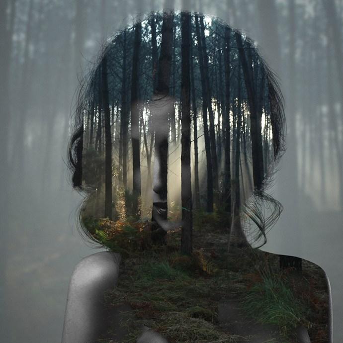 Beauty silence 5/10, série en double exposition par Alexandre De Vries