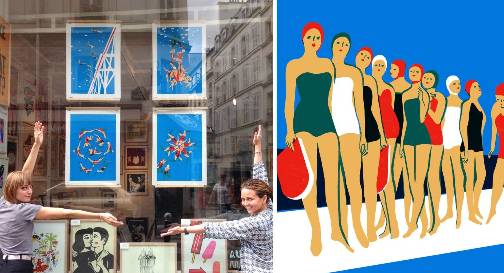 SLOW-galerie-paris-virginie-morgand-illustratrice-la-piscine