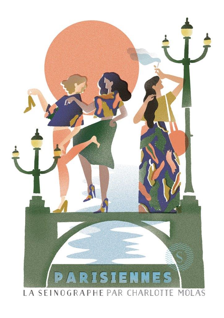La Seinographe x Charlotte Molas illustration paris parisienne