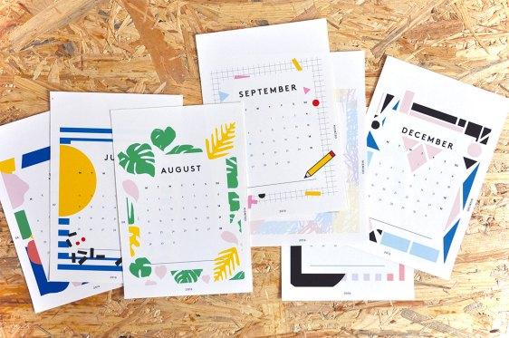 calendrier papier deco design 2016 oeilwein