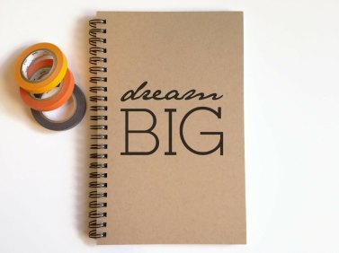 carhier carnet spirale jolie papeterie dream think big etsy