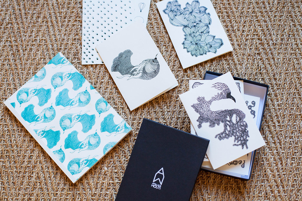 jolie papeterie cartes de voeux paris atelier mouti cahier carnet papier peint original