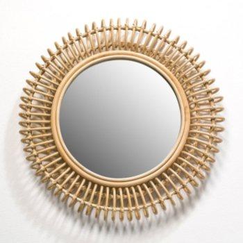miroir soleil vintage deco rotin am pm
