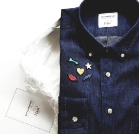 promod x hast chemise boyfriend jean coton unisexe