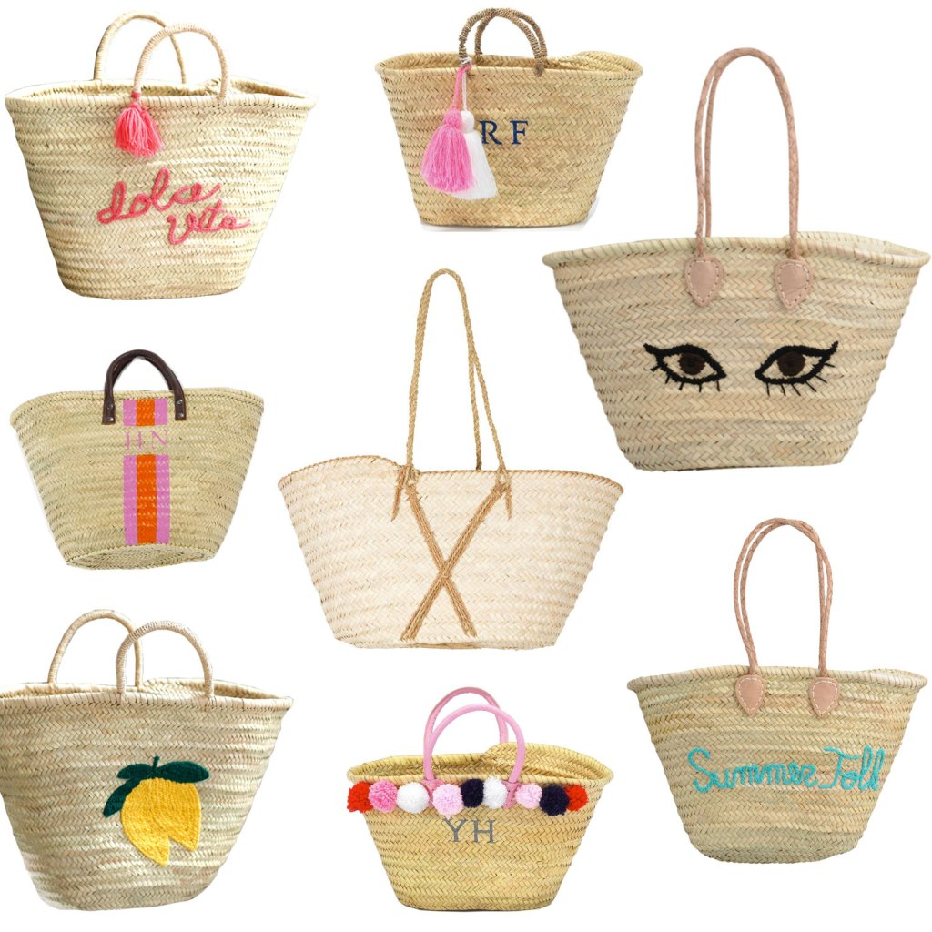 Paniers-osier-brodes-messages-sac-cabas-plage-sezane-dolce-vita