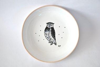 assiette-porcelaine-illutree-animal-hibou