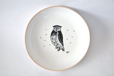 assiette-porcelaine-illutree-animal-hibou