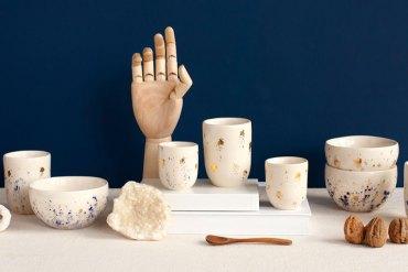 Vaisselle-deco-noel-ceramique-doree-Catherine-Azoulai
