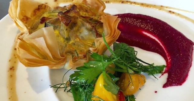 Découvrez la recette de Tarte fine aux artichauts