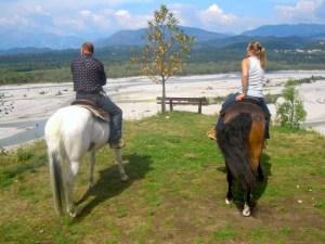 Il parco del fiume Tagliamento a cavallo
