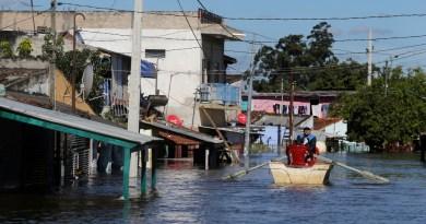 Desbordó el río Paraguay