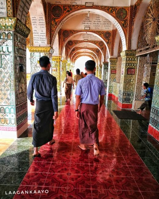 Men wearing skirt in Myanmar