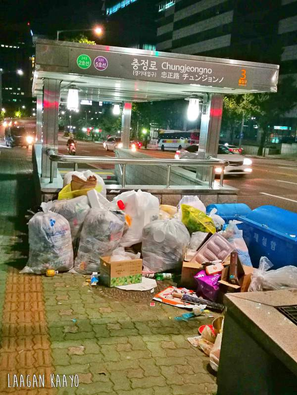 South Korea Travel Guide - Garbage