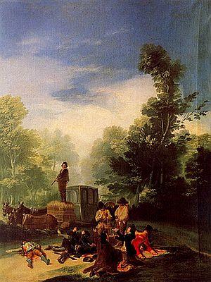 Asalto al Coche. Óleo de Goya
