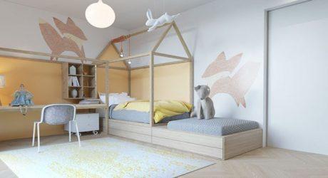 habitacion infantil diseño con animales