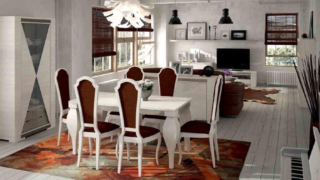 Mesa de comedor cl sico muebles y decoraci n la alcoba for Decoracion comedor clasico