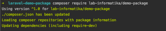 Install package