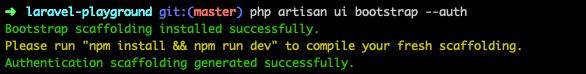Laravel UI bootstrap auth