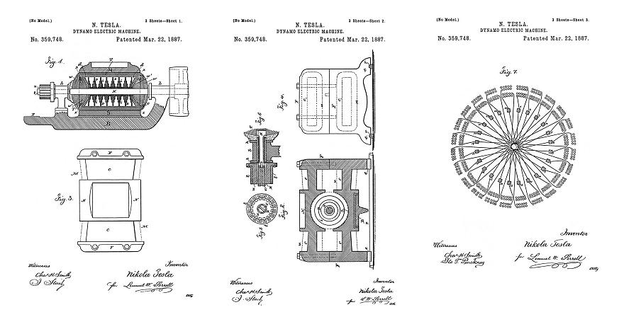 Tesla Patent 359,748