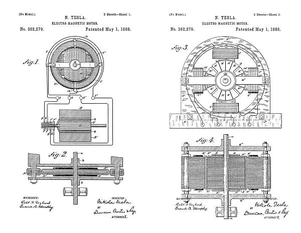 Tesla Patent 382,279