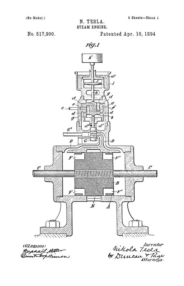 Tesla Patent 517,900