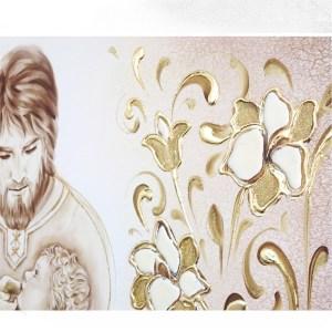 sacra famiglia quadro moderno arredare articolo da regalo matrimonio capezzale moderno capoletto camera da letto dipinto shabby chic arredare