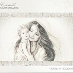 Capezzale moderno quadro maternità capoletto arredare camera da letto idea regalo matrimonio