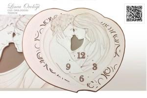 orologio da parte montmartre dipinto a mano idea regalo arredare casa