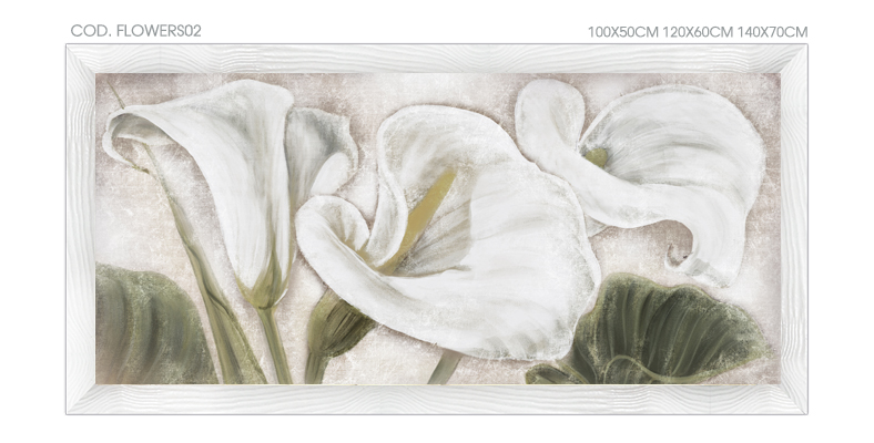 FLOWERS02 Quadro moderno su tela con fiori \
