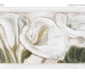 """FLOWERS02 Quadro moderno su tela con fiori """"Floreale con Calle"""""""