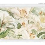 FLOWERS604 quadro moderno su tela con fiori floreale gigli